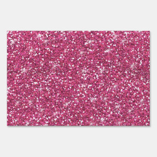 Hot Pink Glitter Printed Sign