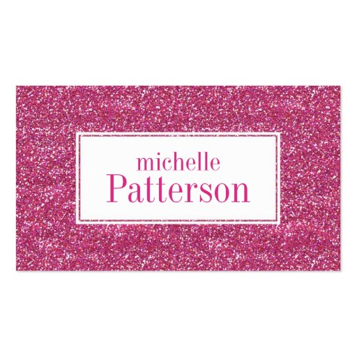 Hot Pink Glitter Professional Business Cards