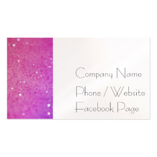 Hot Pink Glitter - Shiny, Sparkles Double-Sided Standard Business Cards (Pack Of 100)