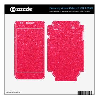 Hot pink glitter samsung vibrant decal