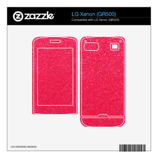Hot pink glitter decal for the LG xenon