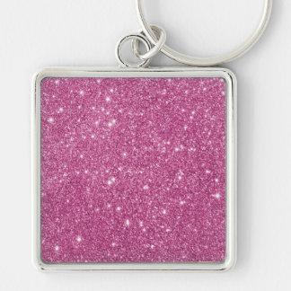 Hot Pink Glitter Sparkles Keychain