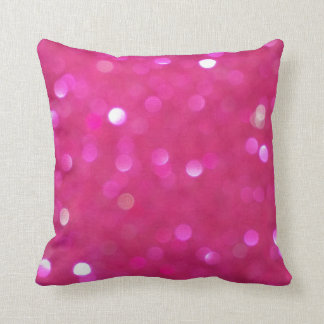 Hot pink glitter sparkly sparkles pillow cushion