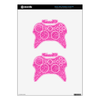 Hot Pink Glitter Xbox 360 Controller Skins