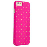 Hot Pink Gold Glitter Small Polka Dots Pattern Barely There iPhone 6 Plus Case