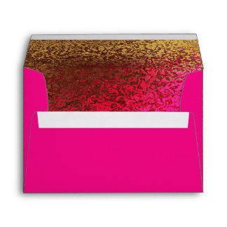 Hot Pink & Gold Glitzy Custom Invitation Envelope