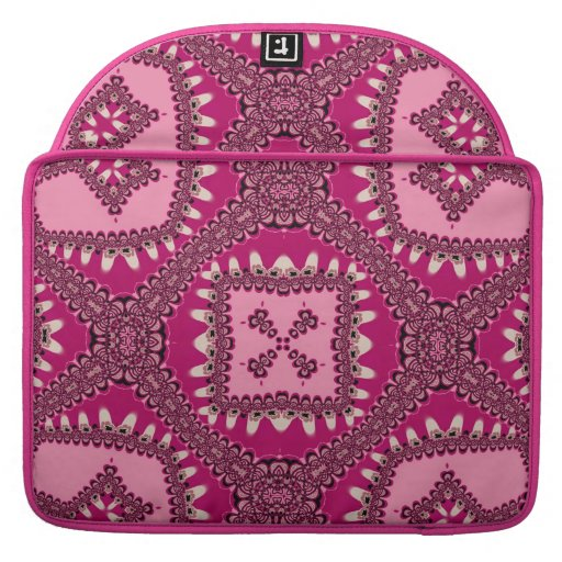 Hot Pink Gold Tribal Love Laptop Sleeve