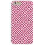 Hot Pink Greek Key Pattern Barely There iPhone 6 Plus Case