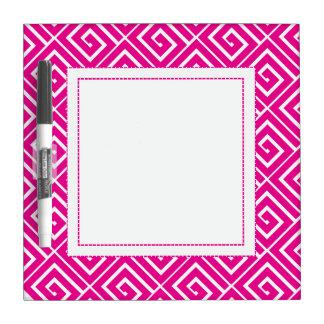 Hot Pink Greek Spirals Dry Erase Dry-Erase Boards