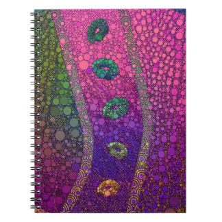 Hot Pink Green Lips Abstract Notebook