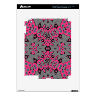 Hot Pink Grey Abstract iPad 3 Decals
