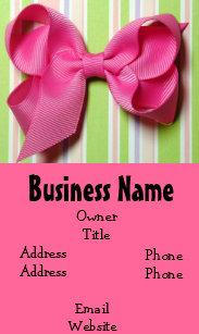 Hair bow business cards zazzle hot pink hair bow business card colourmoves