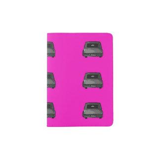 Hot Pink & Hearses Graphic Art Print Passport Hold Passport Holder