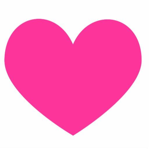 Hot Pink Heart Magnet Photo Sculpture