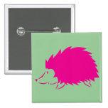 Hot Pink Hedgehog Buttons