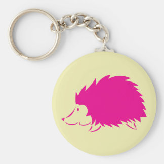 Hot Pink Hedgehog Keychain