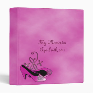 Hot Pink Heels Quinceanera 15th Birthday Photo 3 Ring Binder