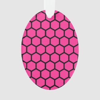 Hot Pink Hexagon 4 Ornament