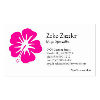 Hot Pink Hibiscus Business Card