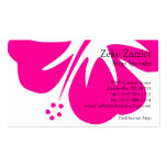 Hot Pink Hibiscus Business Cards