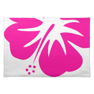 Hot Pink Hibiscus Cloth Placemat