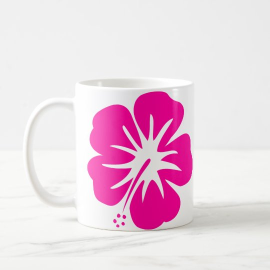 Hot Pink Hibiscus Coffee Mug