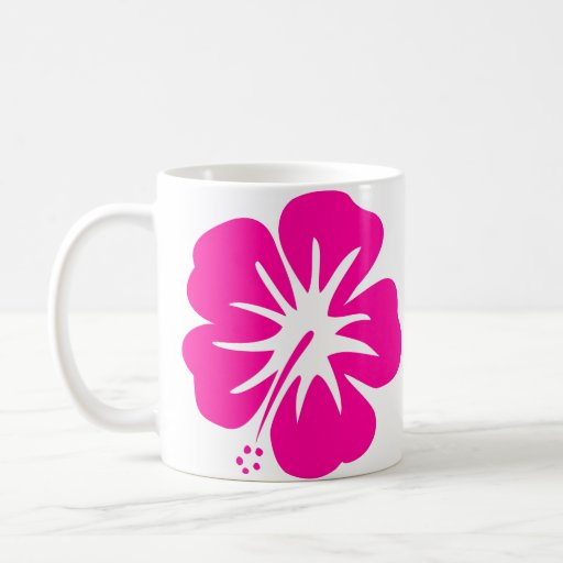 Hot Pink Hibiscus Coffee Mugs