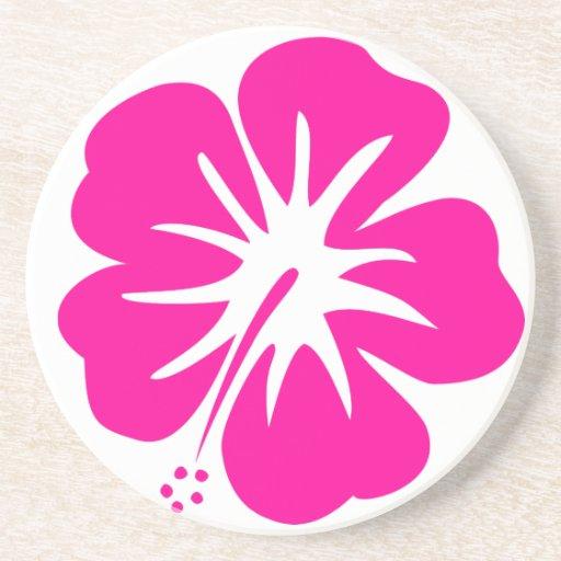 Hot Pink Hibiscus Drink Coaster