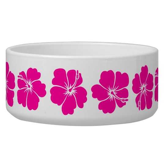 Hot Pink Hibiscus Flower Bowl