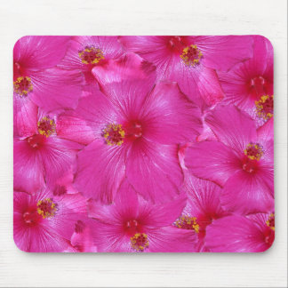 Hot Pink Hibiscus Mouse Pad