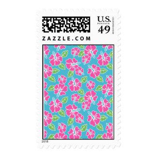 Hot Pink Hibiscus Postage
