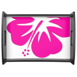 Hot Pink Hibiscus Service Tray
