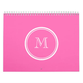 Hot Pink High End Colored Personalized Calendar