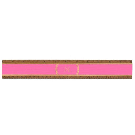 Hot Pink High End Colored Personalized Maple Ruler