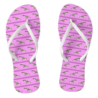 Hot Pink High-Flying Stripped Seagull Flip Flops
