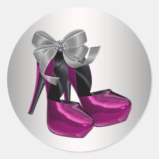 Hot Pink High Heel Shoe Stickers