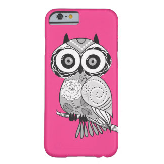Hot Pink Hipster Groovy Cute Owl Girly Barely There iPhone 6 Case