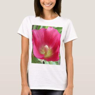 Hot Pink Hollyhock Photo T-Shirt