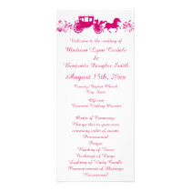 Hot Pink Horse and Carriage Wedding Programs