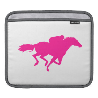 Hot Pink Horse Racing Race Horse Sleeves For iPads