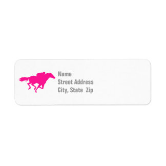 Hot Pink Horse Racing; Race Horse Label