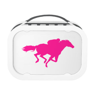 Hot Pink Horse Racing; Race Horse Lunch Box