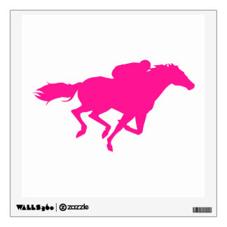Hot Pink Horse Racing; Race Horse Wall Sticker