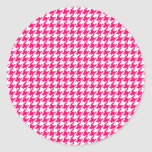Hot Pink Houndstooth Stickers