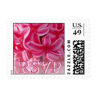 Hot Pink Hyacinth RSVP Stamp