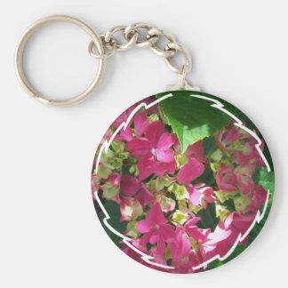 Hot Pink Hydrangea  Keychain