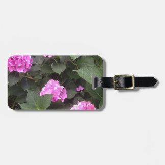 Hot Pink Hydrangea Luggage Tag