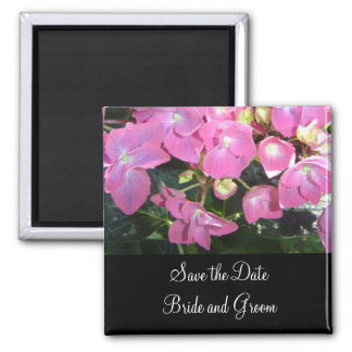 Hot Pink Hydrangea - Save the Date Magnet