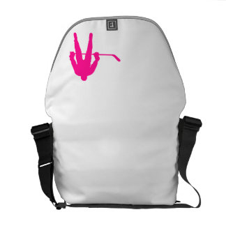 Hot Pink Ice Hockey Courier Bag