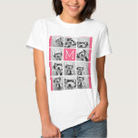 Hot Pink Instagram Photo Collage Custom Monogram Tee Shirt